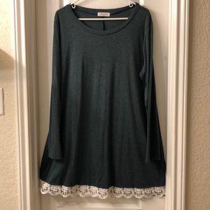 Tops - XXL Forest Green Tunic/Dress
